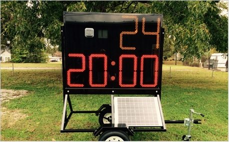 large practice timer football trailer solar