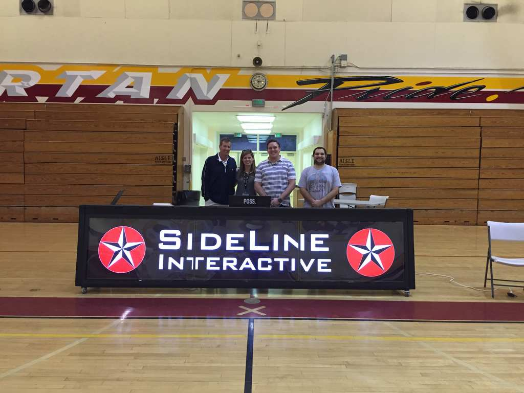12ft tripleview digital scoring table LaCanada High in Pasadena, CA. GO SPARTANS!