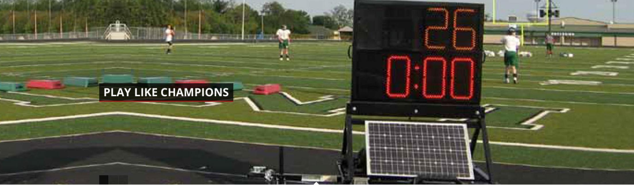practice timer solar trailer football
