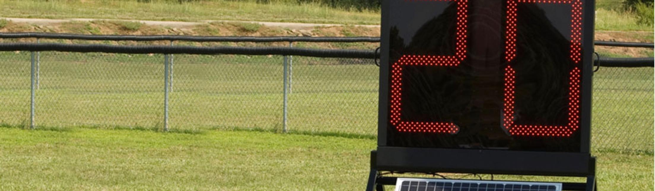 play clock walled on trailer solar