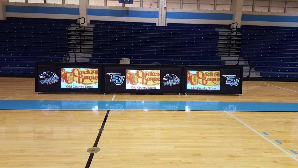 three 8ft digital basketball score tables at San Jacinto College