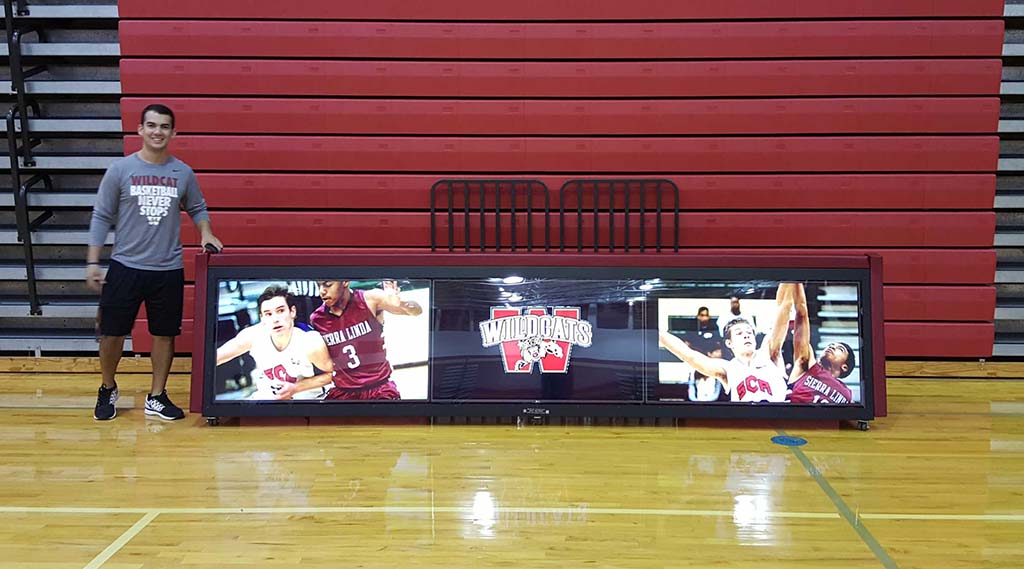 12ft TRIPLEVIEW digital scoring table Katy Cinco Ranch High School