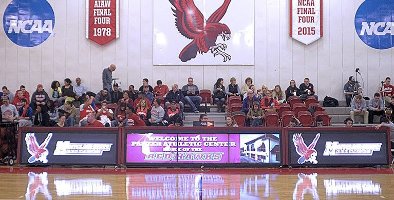 40ft digital scoring table at Montclair State University. Go Hawks!