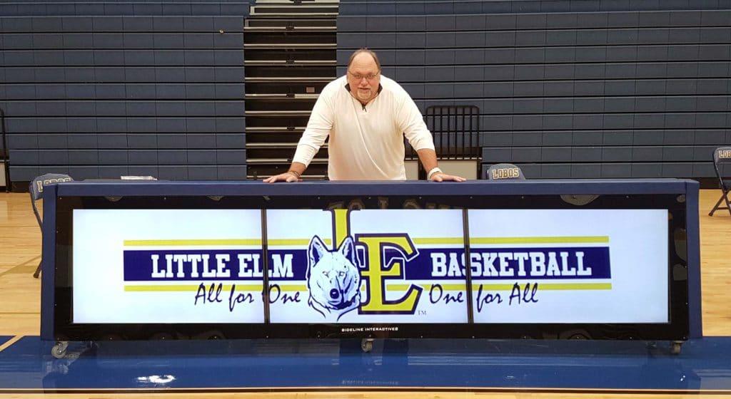 digital scoring table for Little Elm High School Basketball program