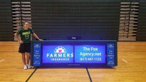 digital scorer's table 10ft at Birdville High School